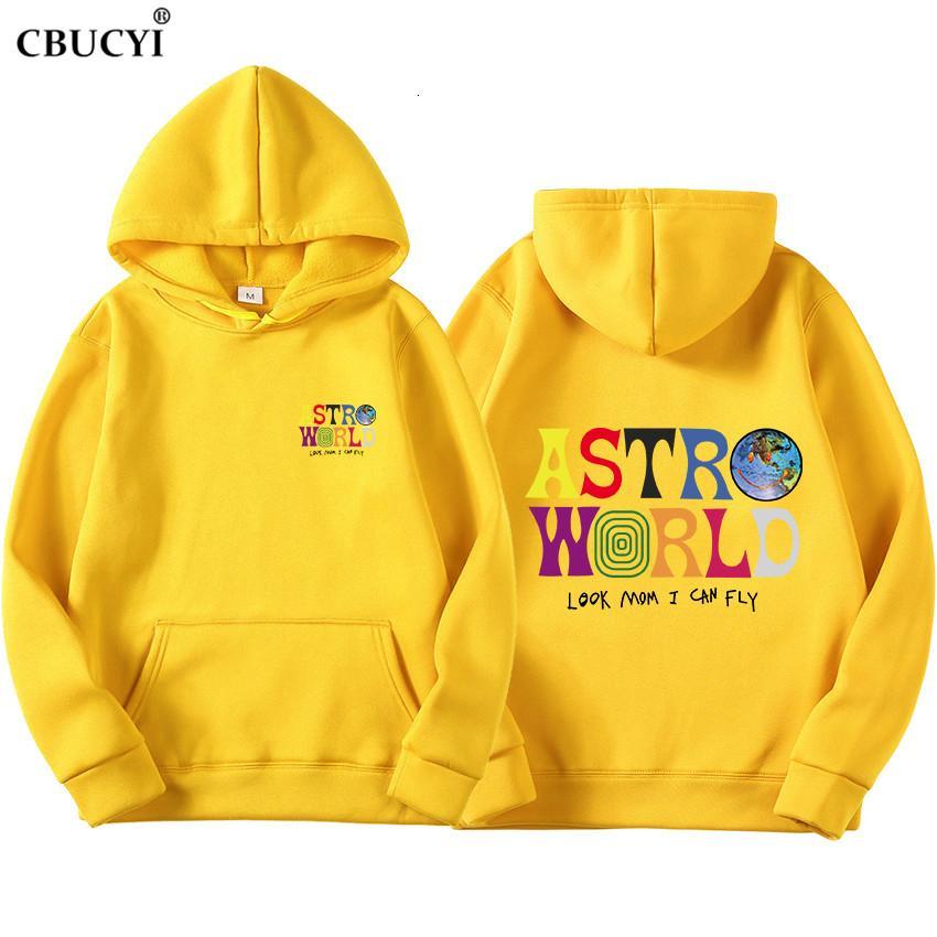 ASTROWORLD bak anne uçurabilirim hoodie Travis Scott Astroworld hoodie 2019 Hediye Baskı erkek Hip Hop Kazak Kazak SH190912