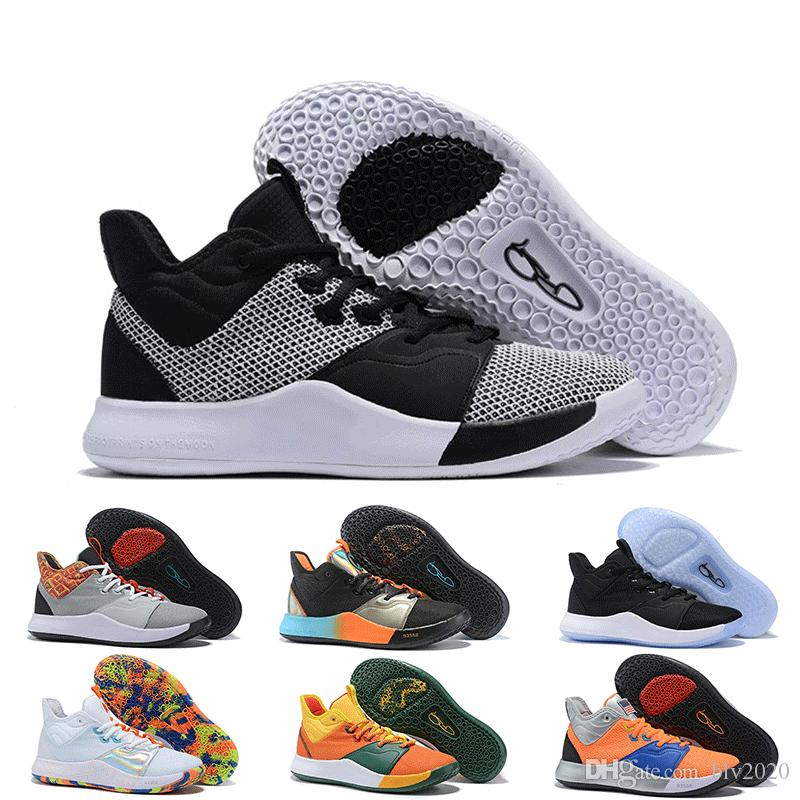 2019 Original Paul George PG 3 3s Designer Sports Sneakers High Quality Black White Mens Brand Basketball Shoes Outdoor For Sale Size 40-46