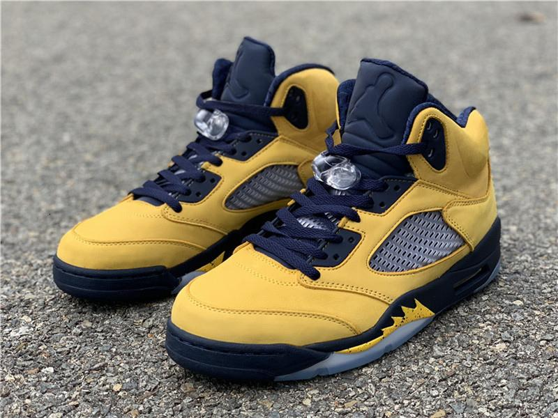 Authentic Air SP 5s Michigan Yellow CQ95S41-704 5 Inspire V Mens Basketball Shoes Sneakers With Original Box Free Shipping
