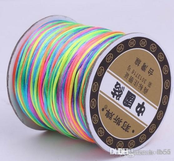 t6332 Good 150M/160yards/lot multi color Chinese Knot String Nylon Cord Rope for crystal Bracelet