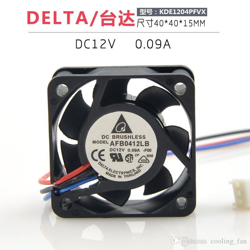 AFB0412LB Nuevo DELTA 4015 12V 0.09A 4 cm Medición de velocidad de tres cables CPU Silencio Ventilador