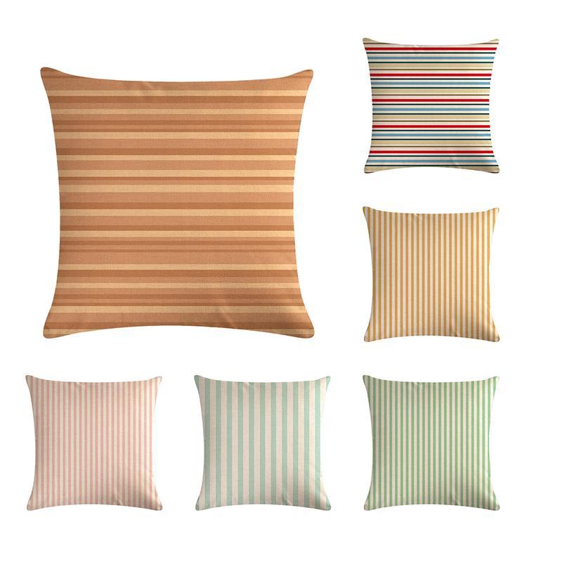 Listra simples padrão por fronha, fronha decorativa, capa da cadeira do sofá, fronha de almofada 45 * 45 cm, decoração de casa