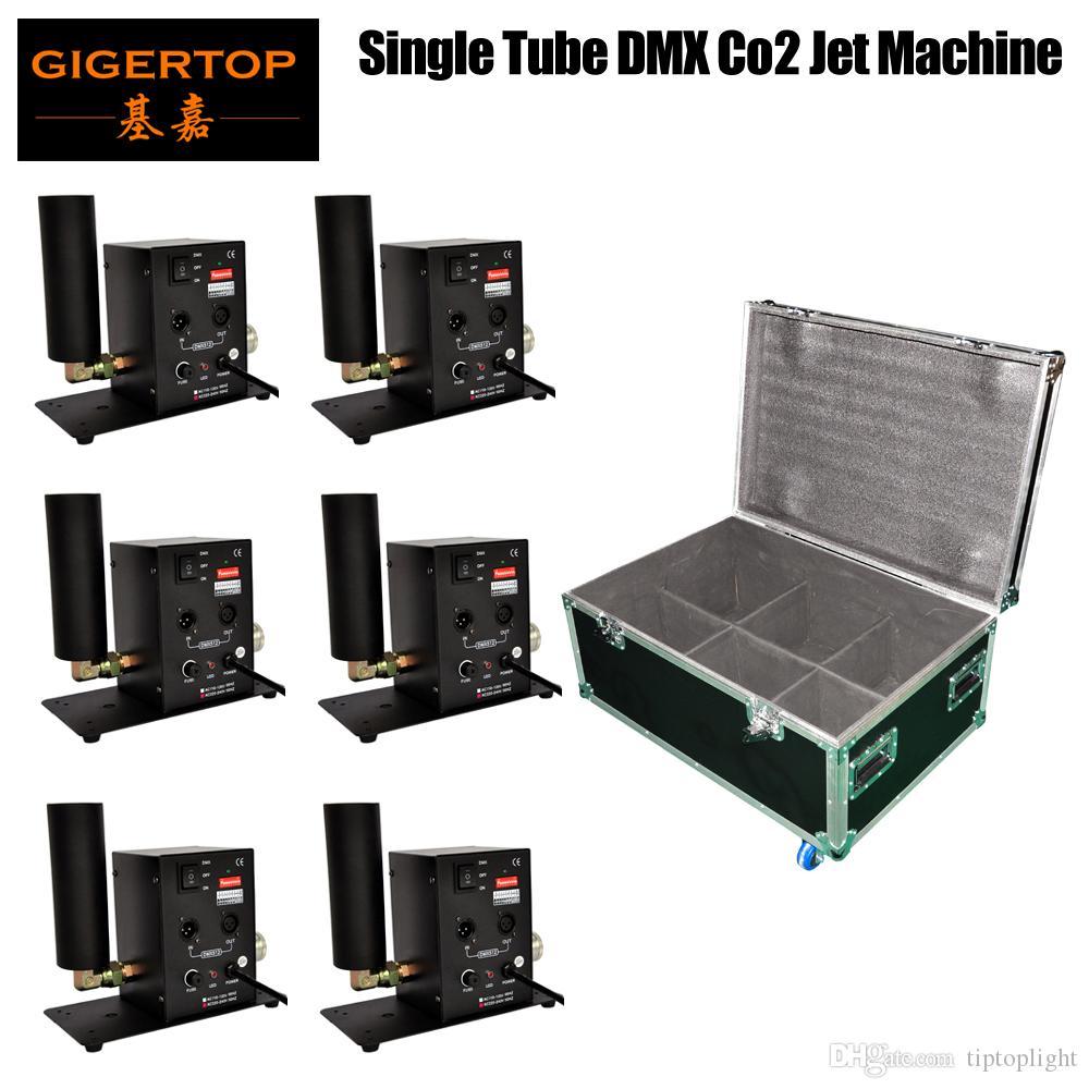 Чехол из полета 6in1 Упаковочная односпальная сопла Сцена CO2 Jet Machine Column Направление струи Переключаемый 1M-5M Высота струи DMX512 2CH Управление / Maunal Way