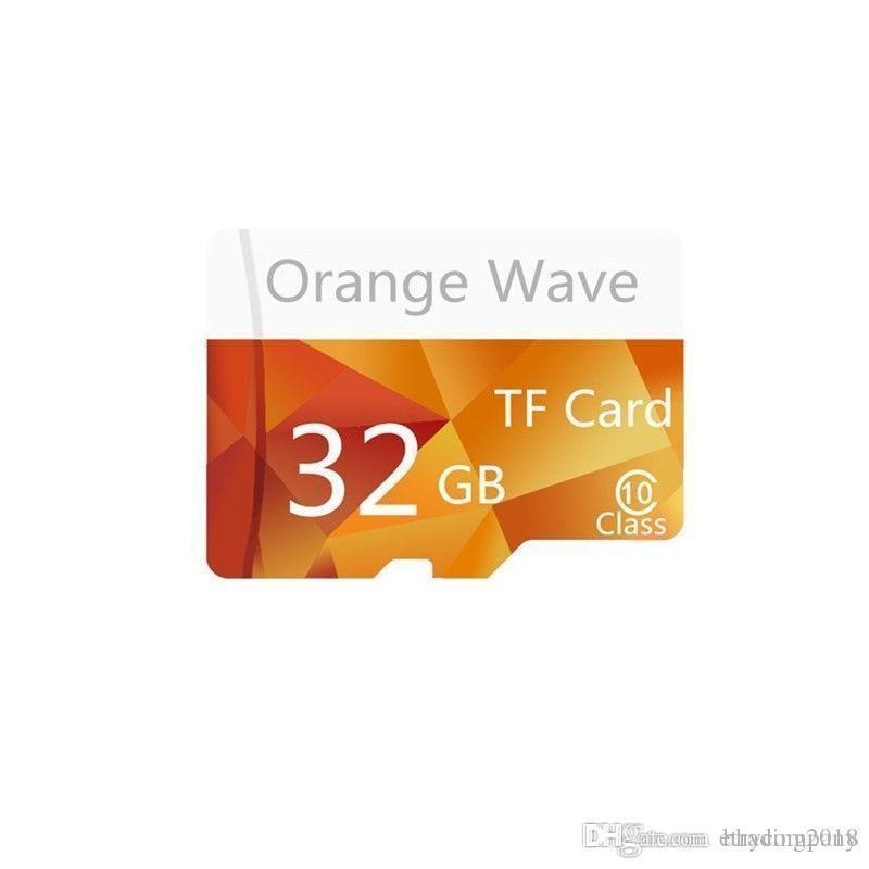 Real capacidade de 32GB alta velocidade Orange Wave Micro TF Class10 memória flash
