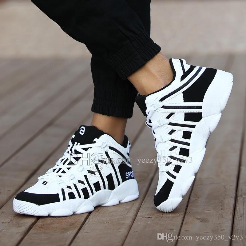 Горячая продажа Мода Мужская обувь Mesh дышащие кроссовки Walking Мужчины Обувь Новая Комфортная легкие кроссовки D-200301199