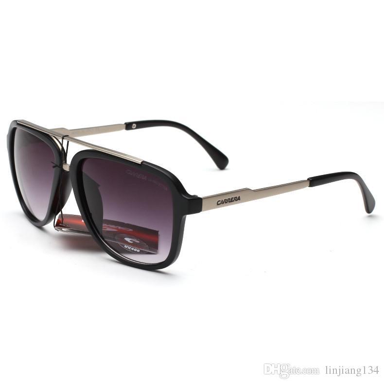 Новый летний стиль Марка Дизайнер 0139 Солнцезащитные очки для мужчин Урожай Mens конструктора тавра золото рамки Солнцезащитные очки