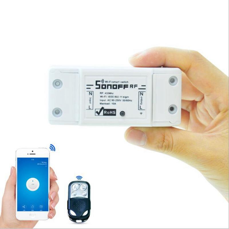 Sonoff 433Mhz Sonoff RF WiFi Wireless Smart Switch Home With RF Receiver Remote Light Control Smart Timing Switch Wireless Control