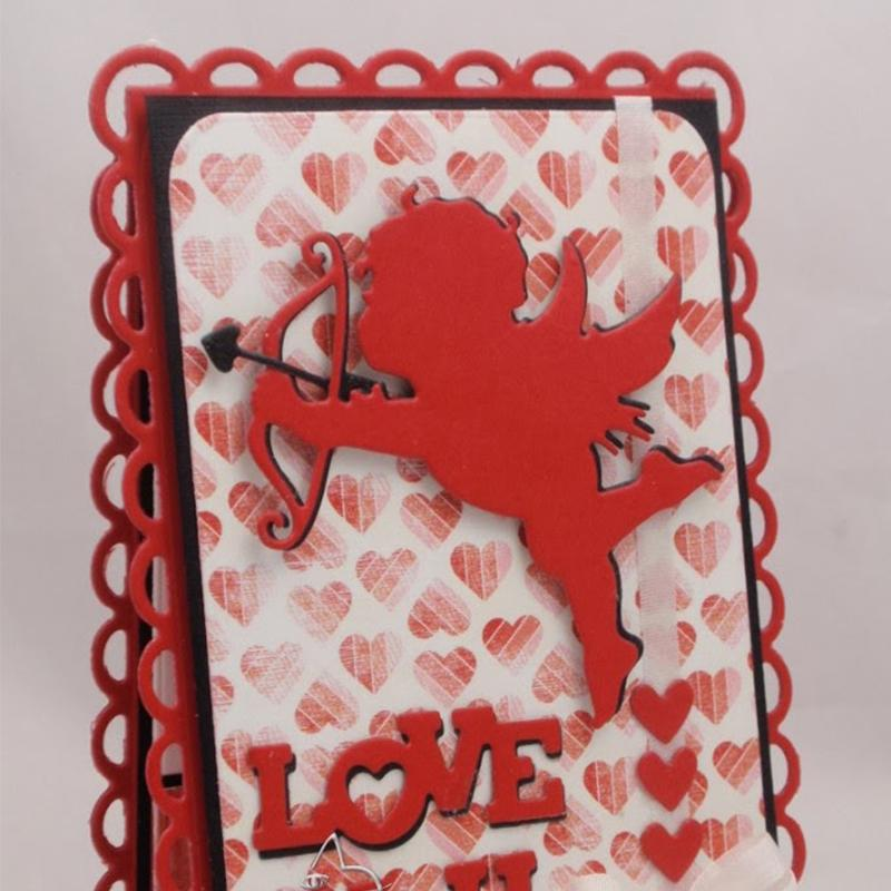 Boy Cupid Valentine presente Metal Cutting morre Stencils Para Scrapbooking Valentine DIY Decoração Embossing Papel Cartões Craft Die