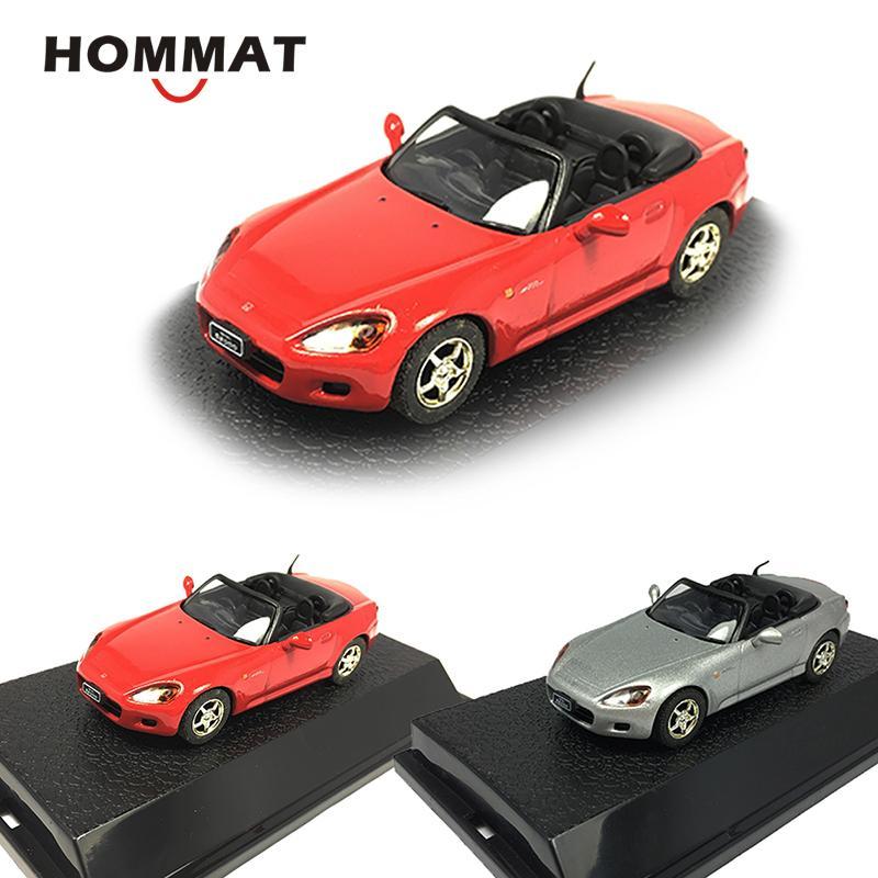 HOMMAT Simulazione 1/43 Honda S2000 convertibile in lega Sport modellini auto Veicolo giocattolo da collezione Model Car giocattoli per i bambini Y200317