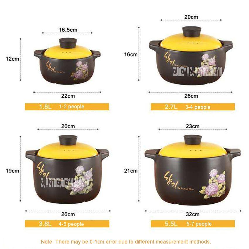 Neuf de haute qualité à haute température Résistance soupe Céramique Cocottes Ragoût Cocottes feu Marmite, ragoûts, 3L / 4L / 6L en option
