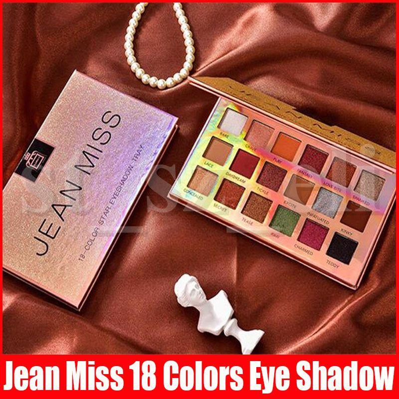 Jean Miss Beauty Makeup Star eyeshadow Eye shadow Tray palette 18 colors Matte Shimmer Glitter Eyeshadow Cosmetics