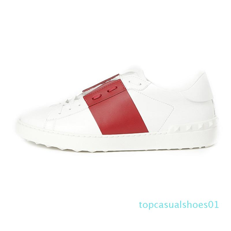 2020 Luxury Designer Plate-forme Blanc Noir Rouge Hommes Femmes Chaussures Casual Ouverture Bas Hommes Baskets Sneakers Sport Taille 35-46 t01