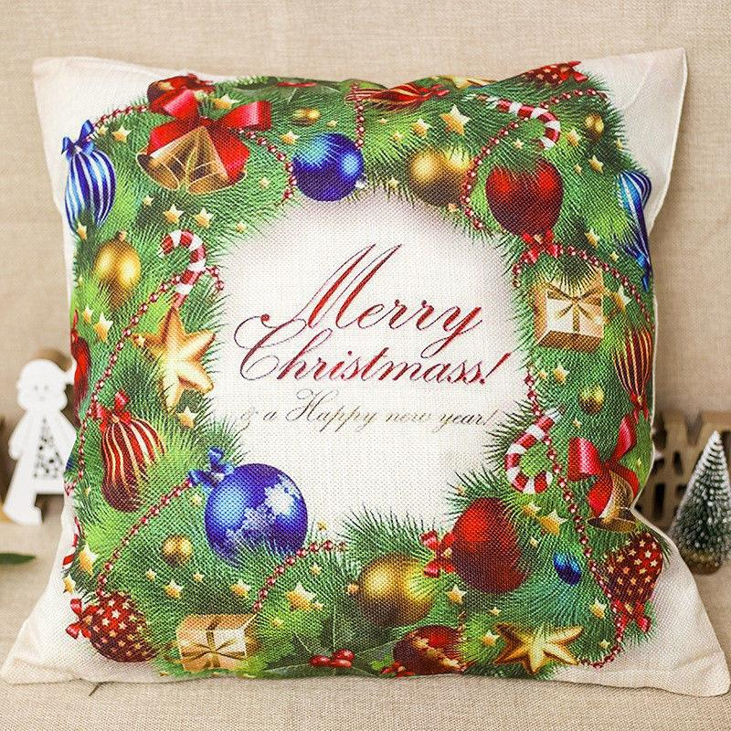 bd furniture and decor.htm christmas cotton linen bed sofa waist cushion throw pillow case  christmas cotton linen bed sofa waist