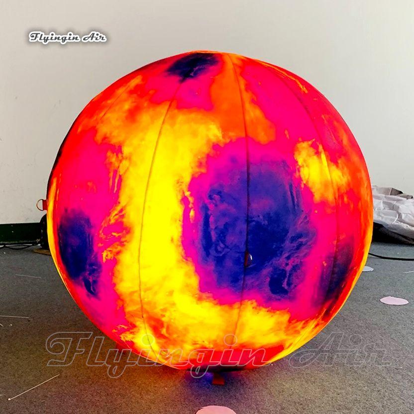풍선 화성 맞춤형 LED 붉은 행성 궤도 태양 태양계 화성 행성 풍선을 위해 박물관 장식 조명