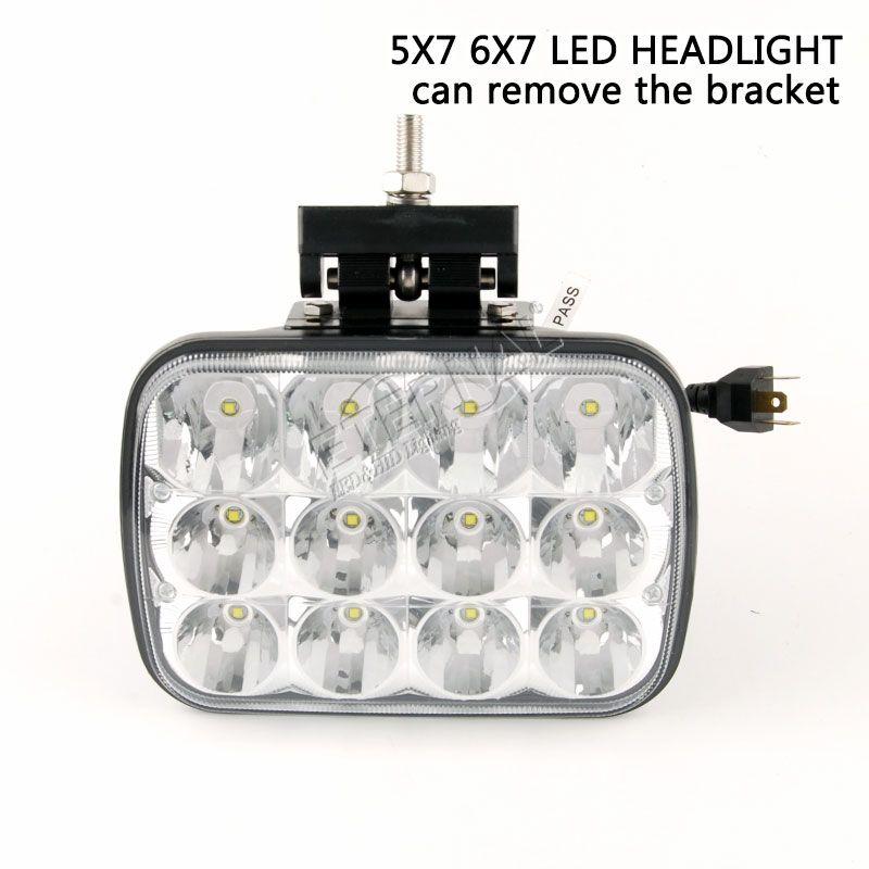 frei 120W 5x7 6x7 LED-Scheinwerfer mit Halterung aus DC10-30V Punktstrahl für Volvo Dodge-Chevy Offroad wrangler 4x4 LKW