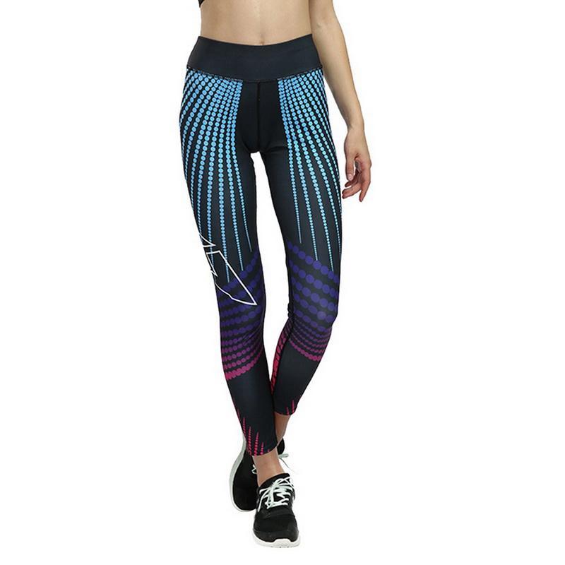 LASPERAL Striped Print Women Legging Push Up Slim Fit Ankle Length Pants High Waist Skiny Tights Jogger Jeggings Workout Leggins
