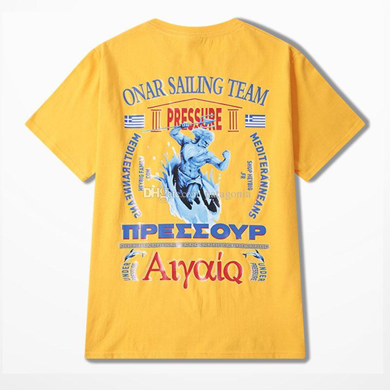 Повседневные мужские футболки Мода Мужчины Hip Hop Короткие рукава высокого качества Мужчины Женщины Лето тройники