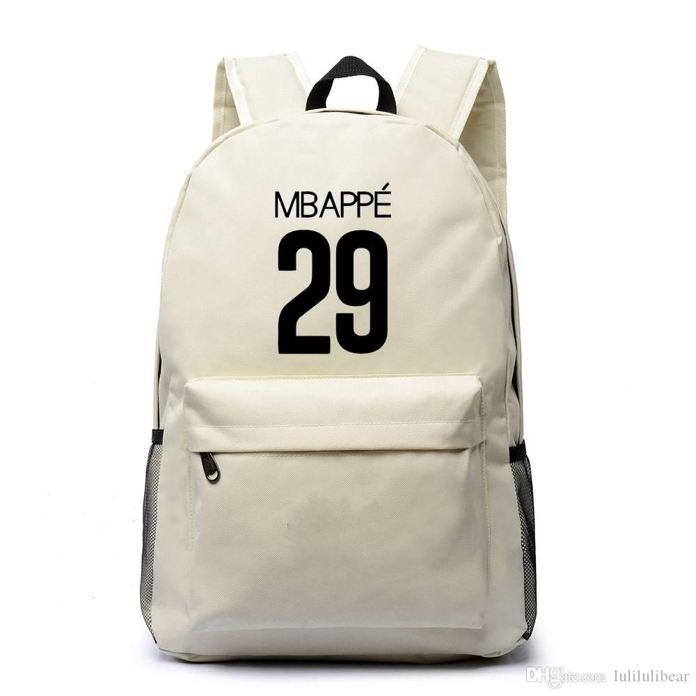Mbapee القدم الكرة قماش حقيبة الظهر بنين بنات حقيبة مدرسية سعة كبيرة للمراهقين السفر محمول حقيبة mochila اجتماعيون
