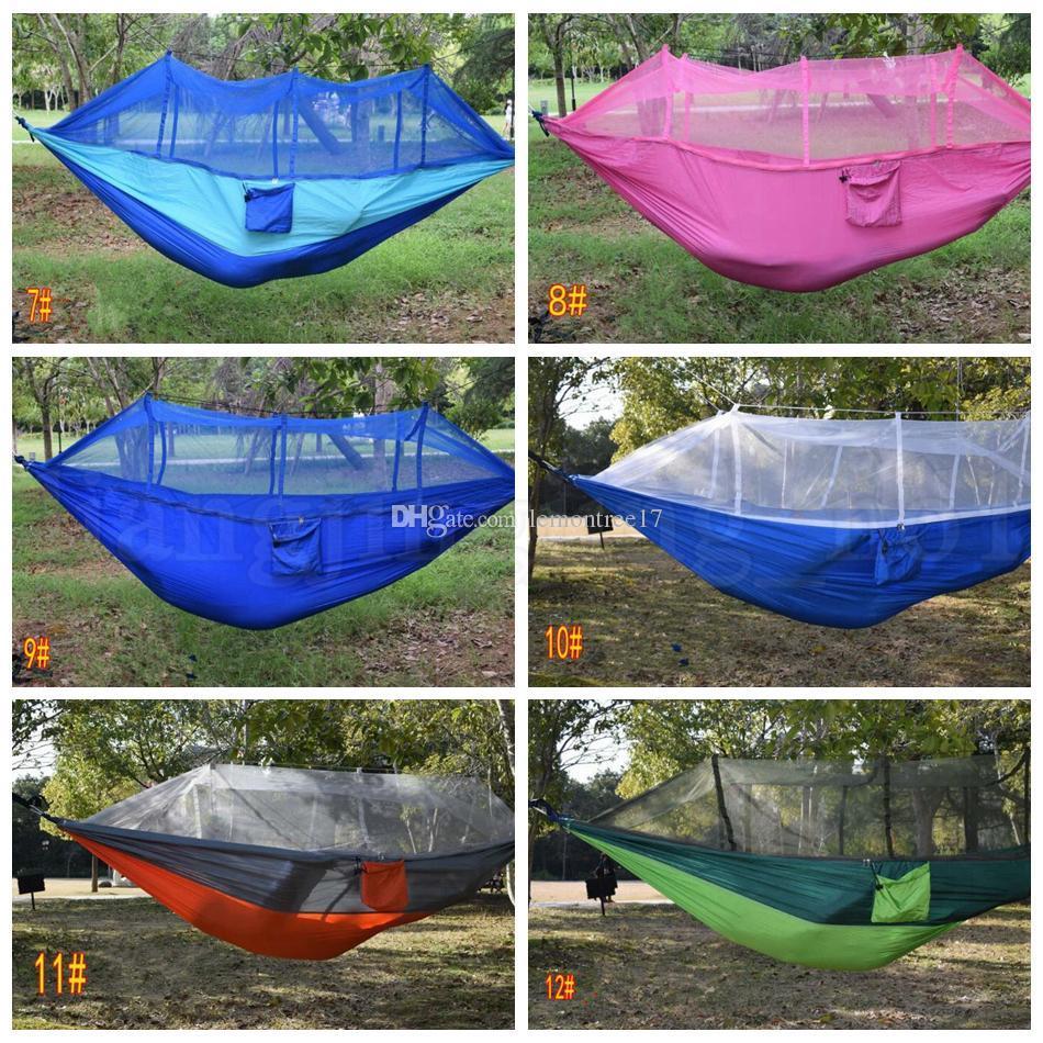 Nylon Patchwork Amaca 140cm Tenda singola doppia persona esterna paracadute panno campo tenda da campeggio Camping Garden altalena appesa Bed
