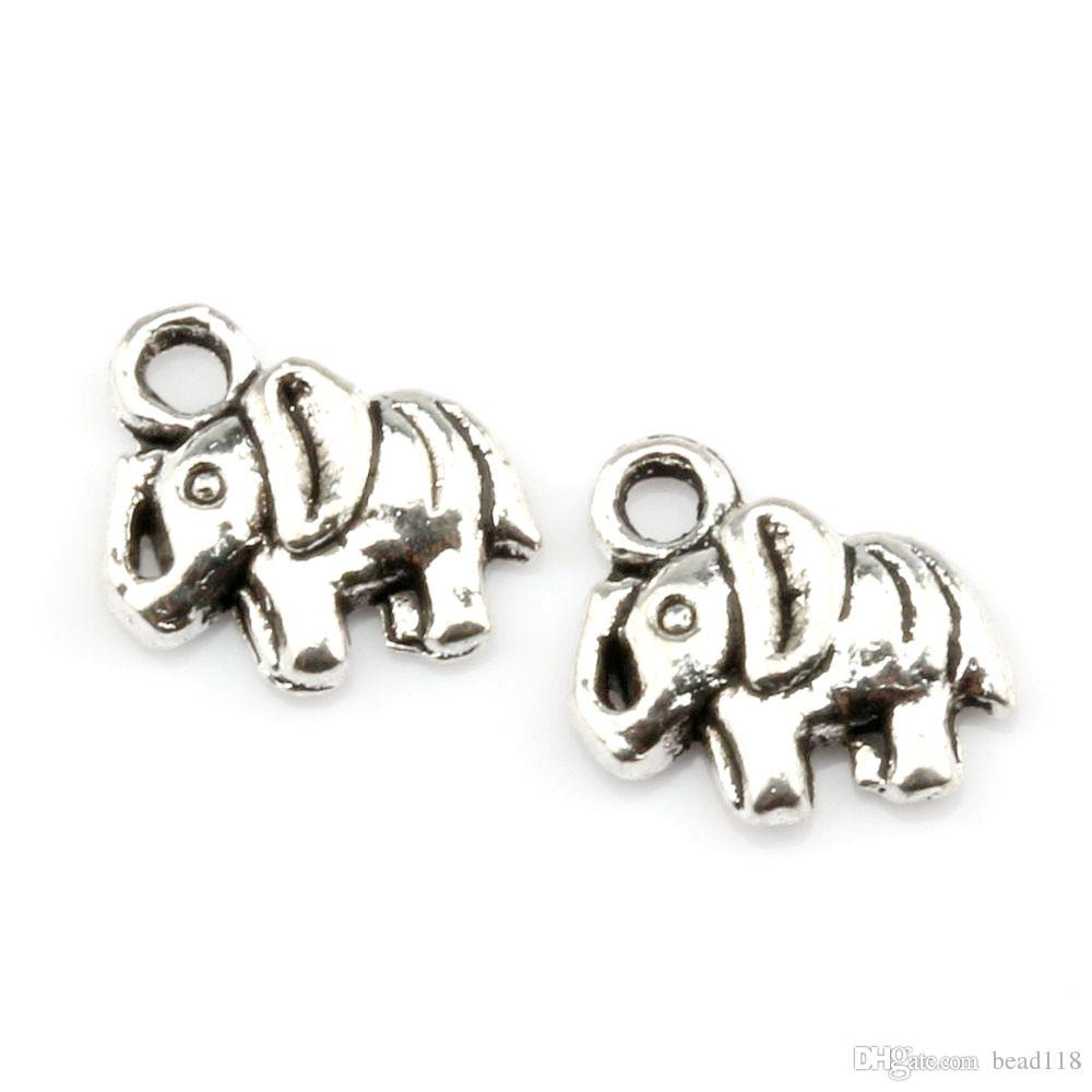 300 stücke Tibetische Silber Elefant Legierung Charms Peandente für Schmuckherstellung Armband Halskette Erkenntnisse 16mmx13.5mmx3mm
