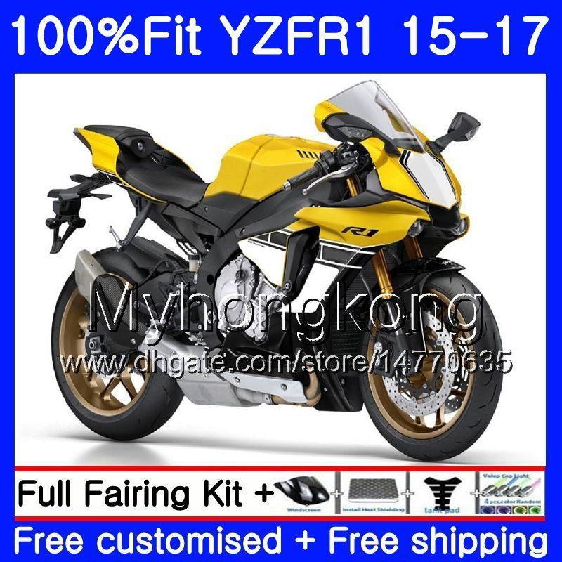 주입 노란색 흰색 주식 바디 용 YAMAHA 용 YZF-1000 YZFR1 2015 2016 2017 243HM.21 YZF R 1 1000 YZF-R1 YZF1000 YZF R1 15 16 17 페어링 키트