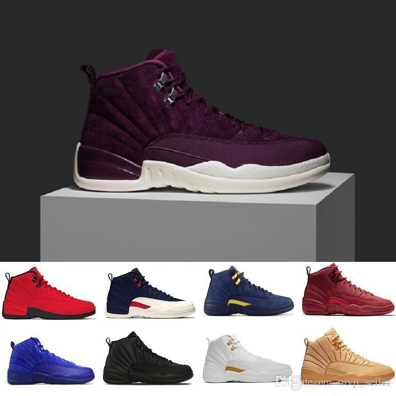 12 12s Designer Basketball Shoes Glass