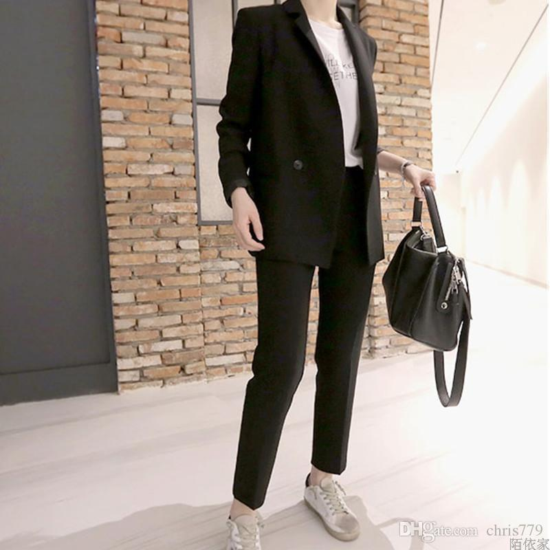 Custom made new women's casual suit two-piece suit (jacket + pants) women's business office official business wear