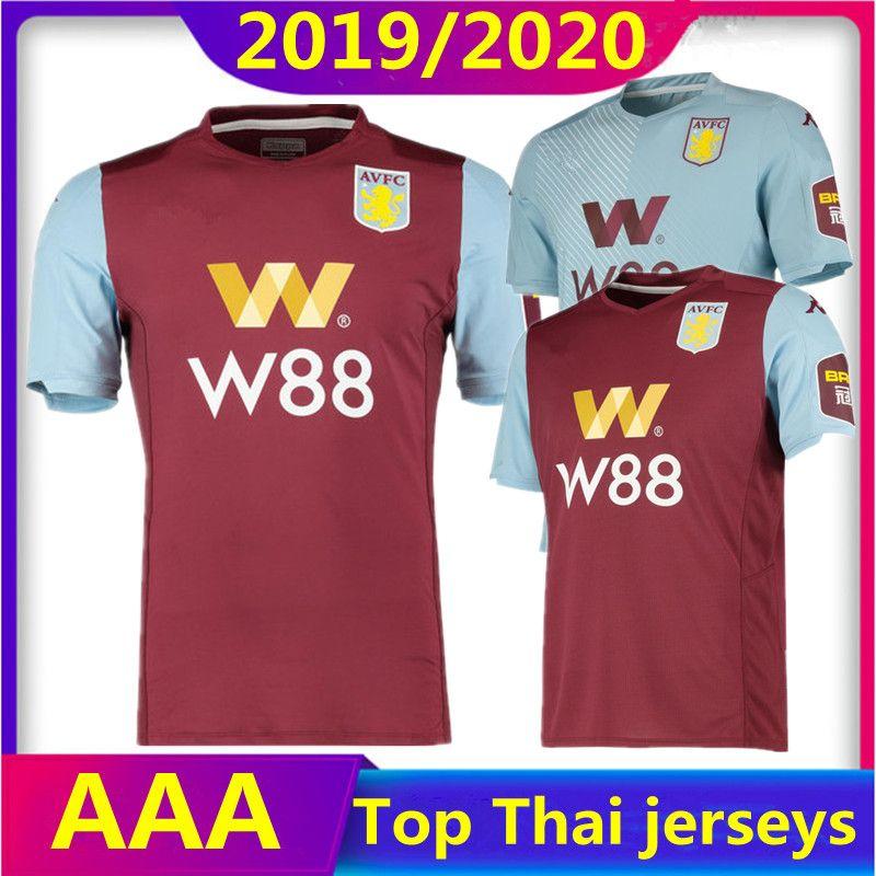 Acquista Nuove Maglie Da Calcio Aston Villa 2019 2020 Home Away 3rd 19 20 WESLEY GREALISH KODJA EL GHAZI CHESTER McGinn TARGETT Maglie Maglia Calcio A ...