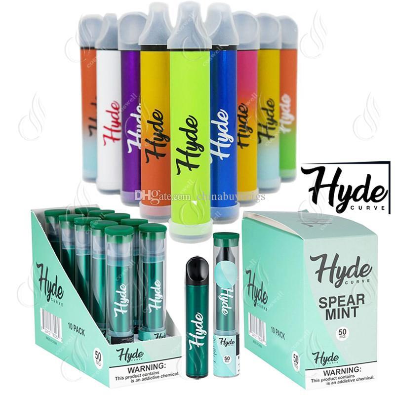 New Hyde CURVE S Edition Disposable Vape Pen 400Puffs Pre-Filled 1.6ml Pods Cartridges 310mAh Battery Vapor Device e Cigarettes Vaporizers