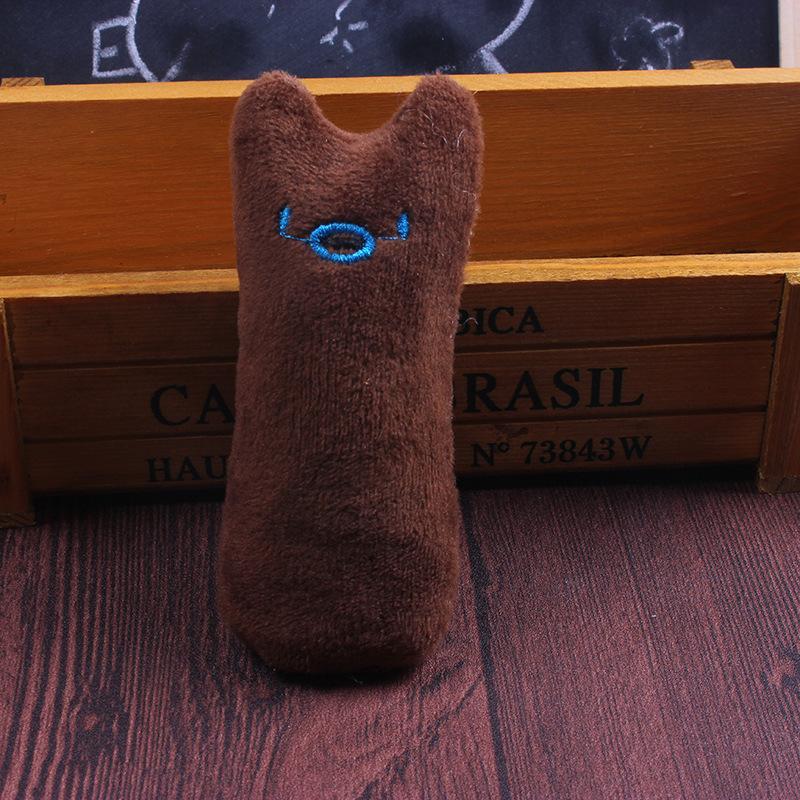 Dentes mastigação gatinho bonito Interativo Plush Cat Toy Pet Grinding Catnip Garras Thumb mordida Cat hortelã Jogo Jogar Pillow Scratcher