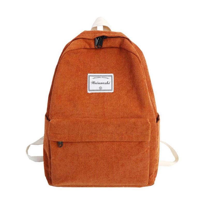 Yeni bayanlar yüksek kapasiteli sırt çantası Koreli basit şerit öğrenci tuval okul çantası bağbozumu duygusu basit düz renk kız sırt çantası