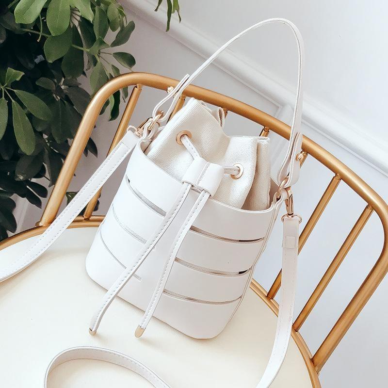 2019 nuova versione borsetta tendenza di moda borsa fata coreana di borse secchiello mini moda di spalla selvaggio Messenger bag