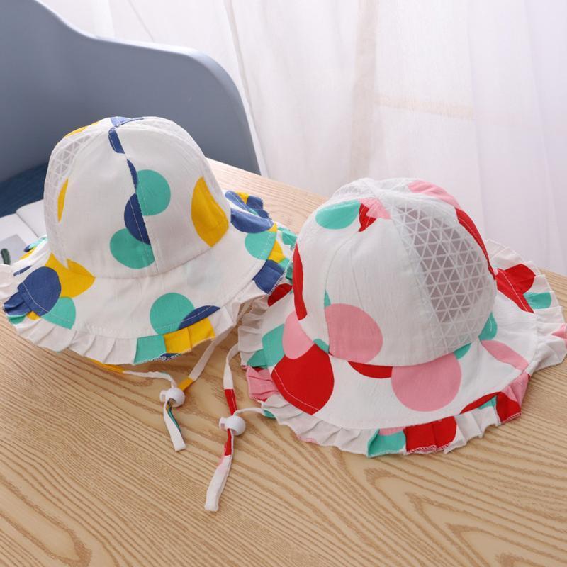 Baby Girl Hat Summer Heart Cartoon Adjustable Sunscreen Cap Kids Elegant Korean Fisherman's Hat Children Girl Photography Props