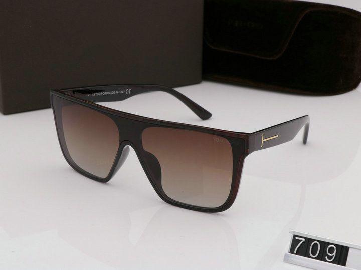 Luxus top große qualität New Fashion 709 Tom Sonnenbrille Für Mann Frau Erika Brillen ford Designer Marke Sonnenbrille mit original box tom