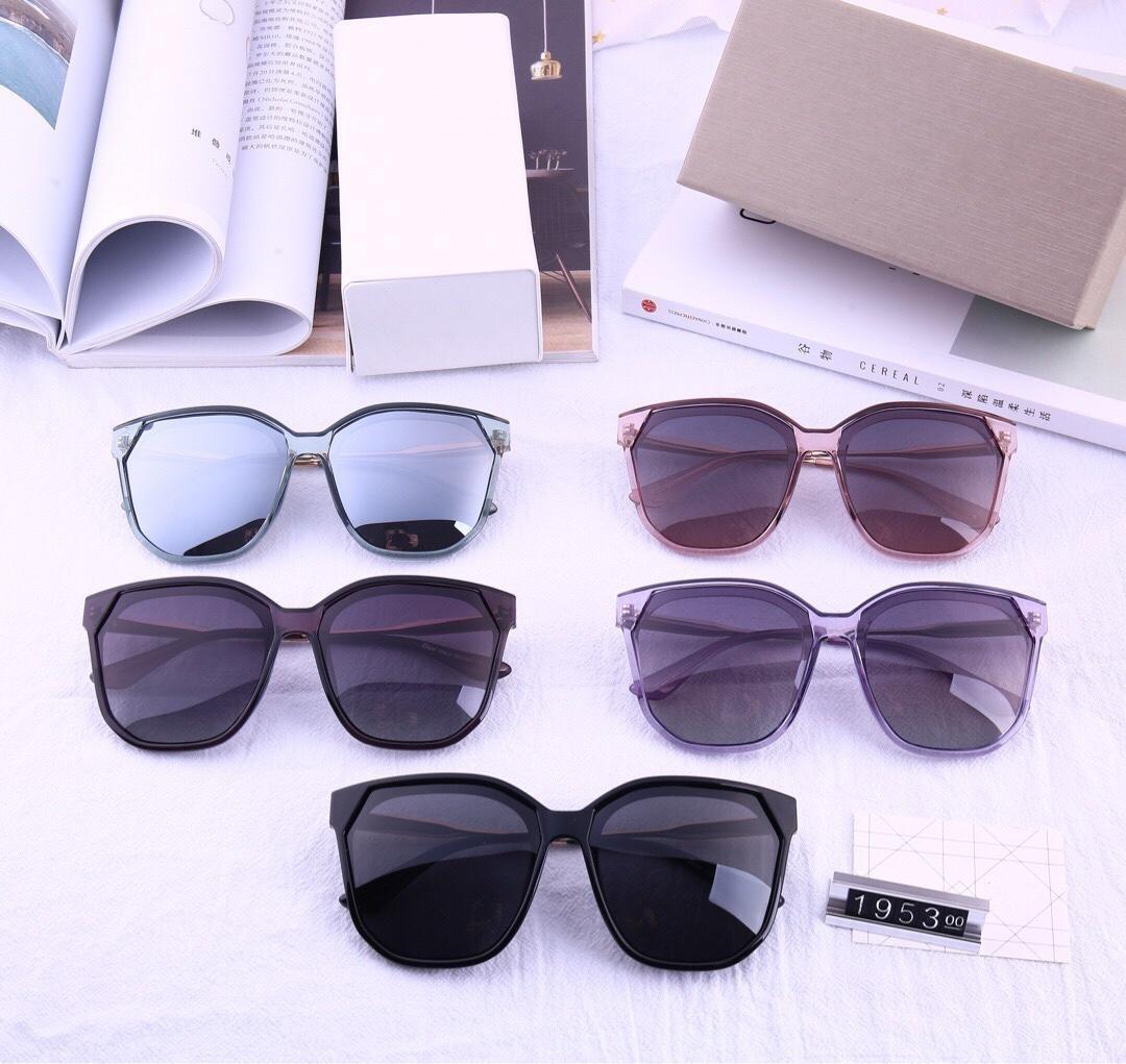 Design Sonnenbrille neue 2019 Dame großer Rahmenfarbfilm polarisierte Sonnenbrille Modell 1953 Hohe Qualität mit Box