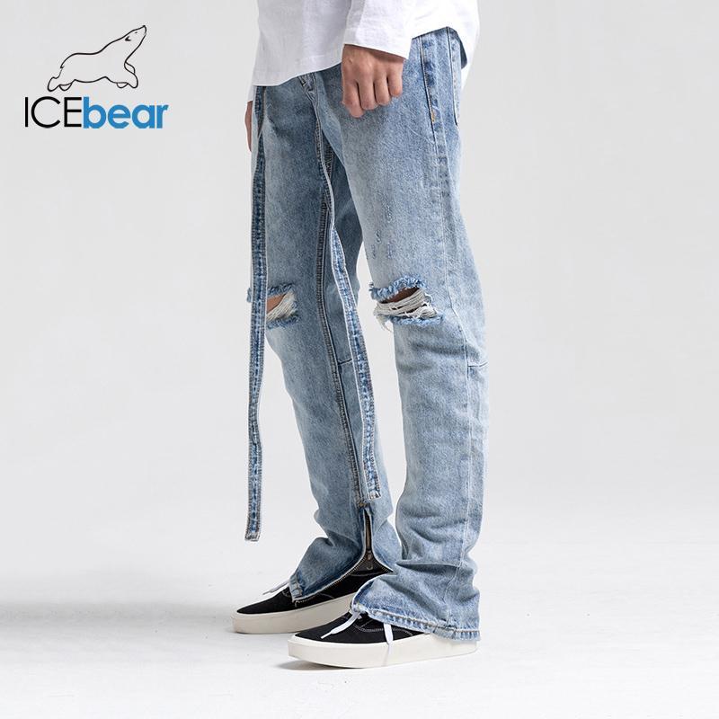 2020 металл молния волна бренд улица улица старинных джинсы M-2903
