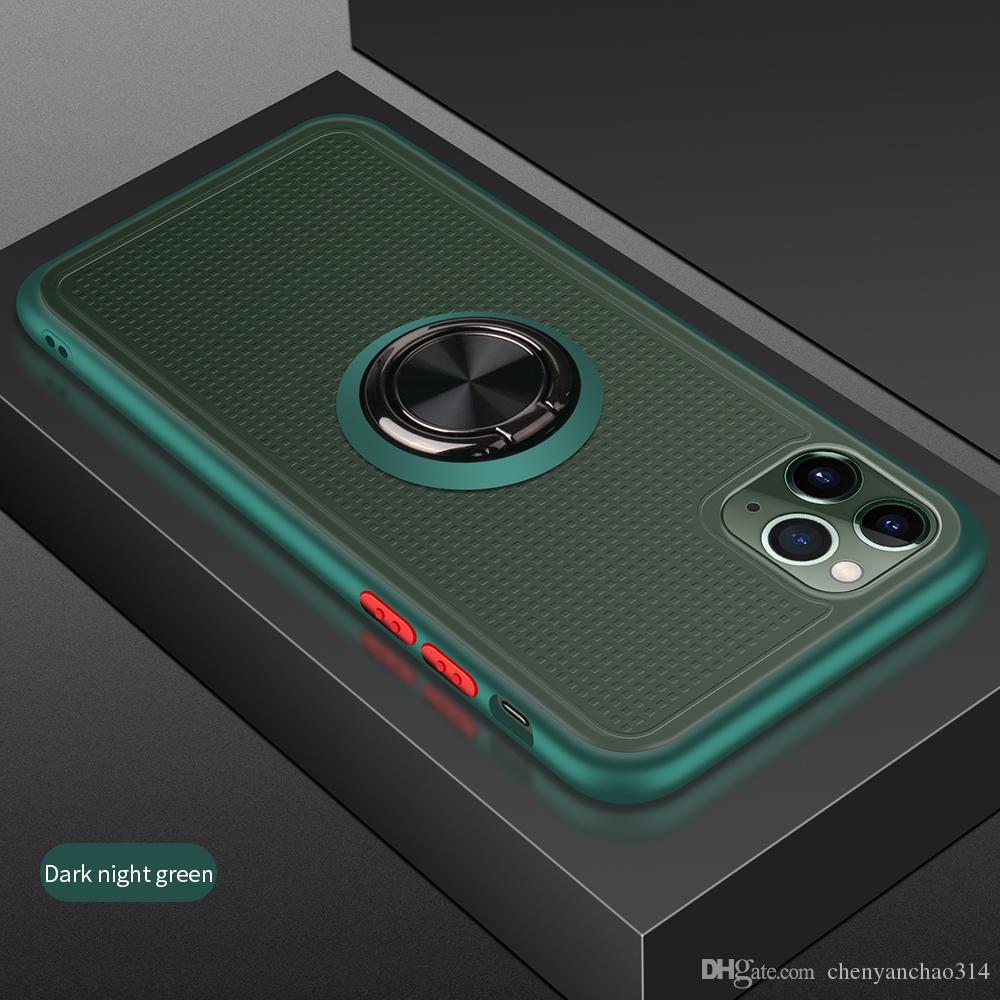 Bague armure pour Apple iPhone 11 Pro Max XR Xs Max 8 7 6 6s Plus X Transparent magnétique Anti choc d'impact de cas pour l'iPhone 11