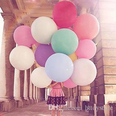 Fiesta de la boda ht hxldollstore 10 PC / porción 10 colores de 27 pulgadas Súper grande globos de helio Inflable de látex globos de cumpleaños decoración Gran Ballon