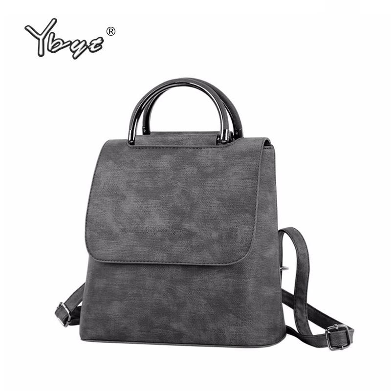 Ybyt Brand 2018 New Pu Leather Women Rucksack Multipurpose Satchel Female Shopping Shoulder Bags Ladies Casual Travel Backpacks Y190627
