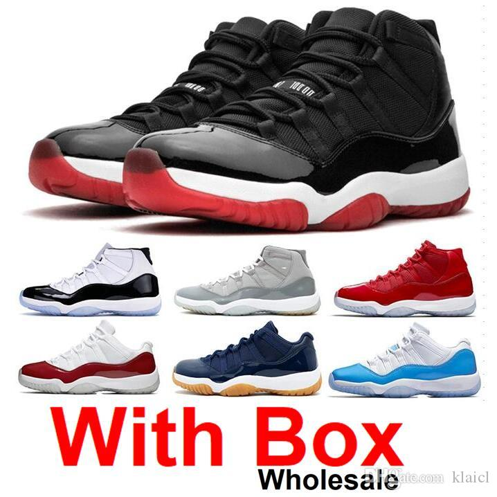 2019 11 Bred 11s Mens basketball shoes Concord 11 45 Platinum Tint Space Jam Gamma Blue Designer Sneakers XI With Box Discount shoes