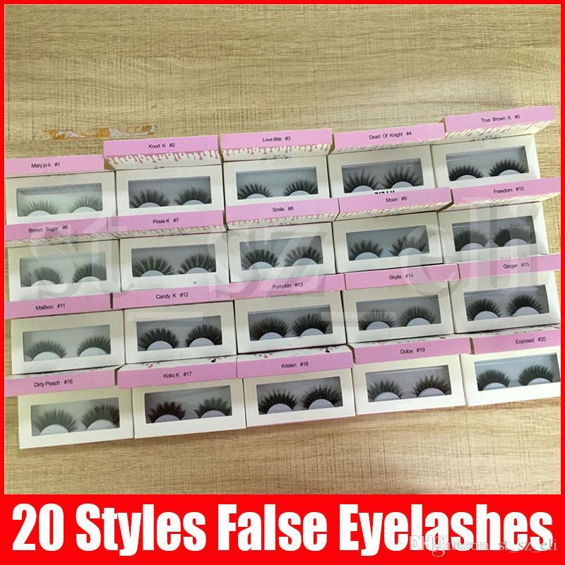 False Eyelashes 20 model Eyelash Extensions handmade Fake Lashes Voluminous Fake Eyelashes For Eye Lashes Makeup