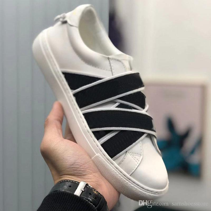 En kaliteli beyaz erkek ayakkabı tasarımcısı renkli sırt gerçek deri tasarımcısı moda spor ayakkabılar kadınlar ünlü 4G WEBBING lüks ayakkabı