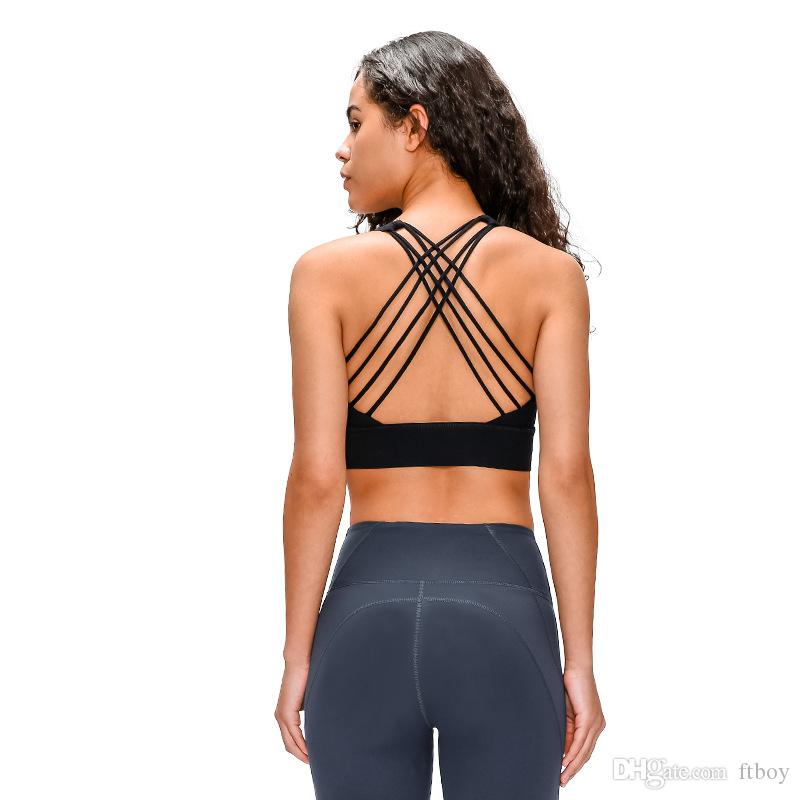 اليوغا مثير المرأة حمالة مبطن الرياضة البرازيلي اهتز إثبات الجري تجريب رياضة أعلى خزان للياقة البدنية القميص الصدرية