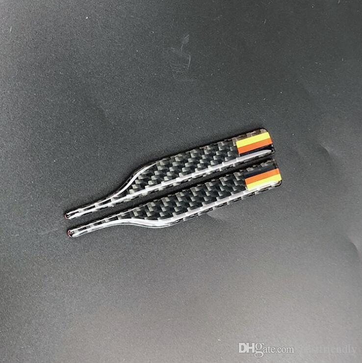 Design de moda 3d espelho de fibra de carbono espelho retrovisor portador para bmw x3 x4 x5 x6 5 7 estilo do carro guarnição tiras adesivos anti-risco