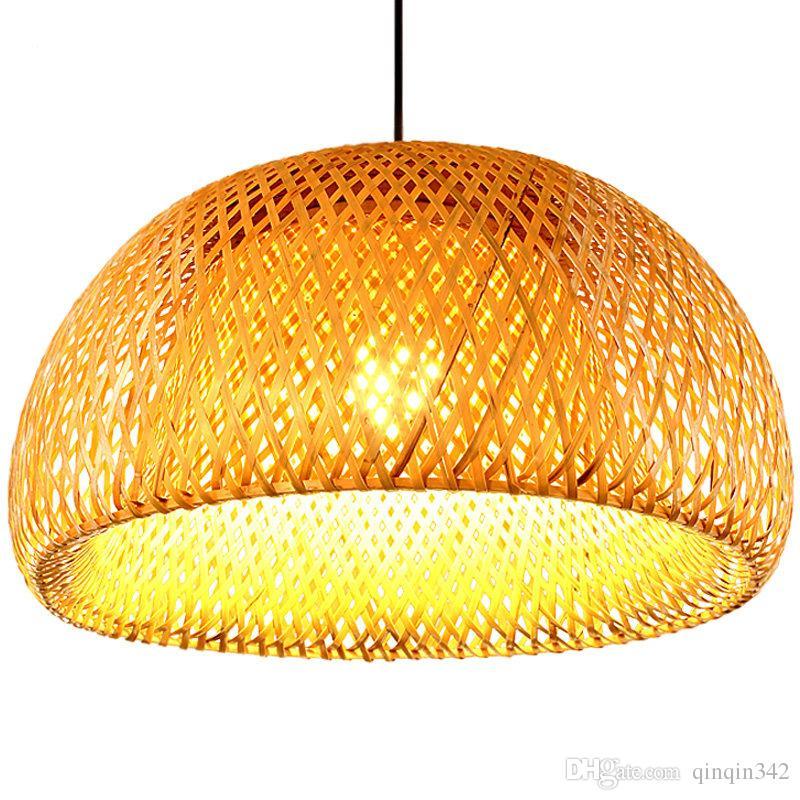 New Chinese Bamboo weaving bamboo nest nest antique Pendant light E27 lamps lanterns living room hotel restaurant aisle Lamp