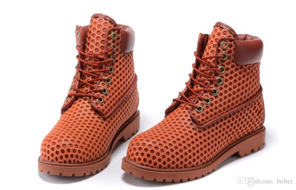2018 Premium Ankle Boots meshes top quality orange racing shoes Sneakers Casual Work Hiking Winter Boots Fashion Shoes size 36-40