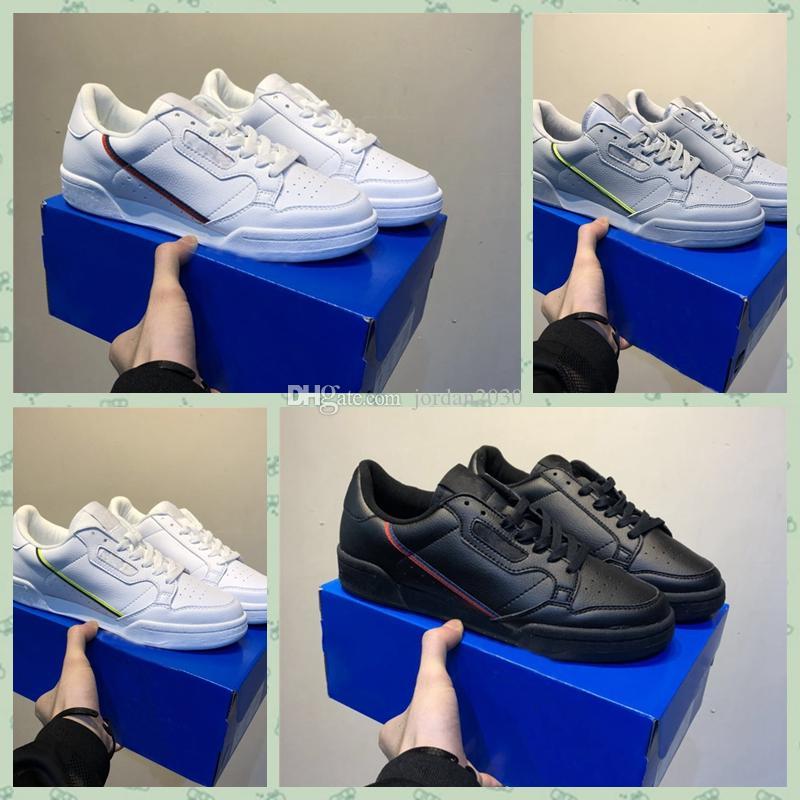 adidas Originals Continental 80 arrivel Calabasas PowerPhase Grey Continental 80 calçados casuais rosa azul do núcleo preto OG mulheres brancas mensTrainer Sports Sneakers 36-45