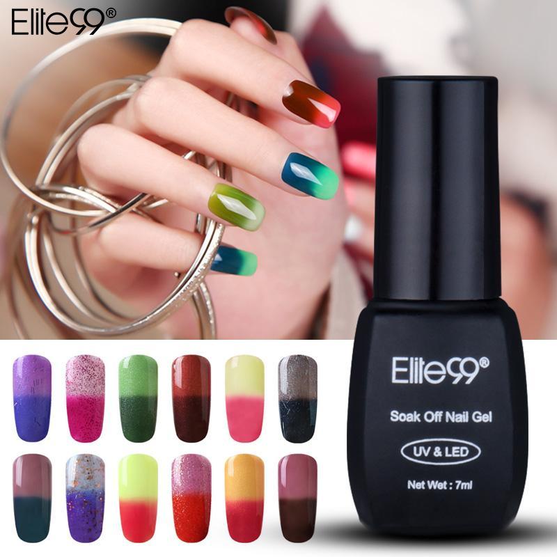 Elite99 7ml гель лак для ногтей Настроения температуры Изменение цвета УФ светодиодные лампы Гель лак для ногтей Art украшения Chamelon Маникюр