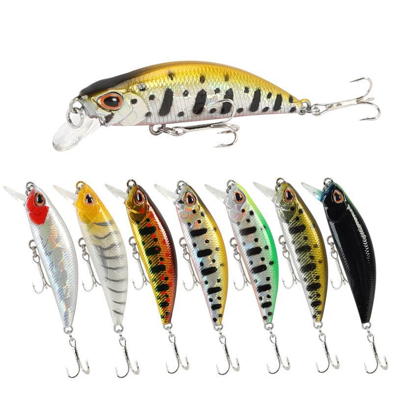 50mm 5g Mini Fish Hard Lures With Metal Hook Tremor Sinking Fishing Baits Freshwater Jerkbait 15 Styles 3 8ysa E19