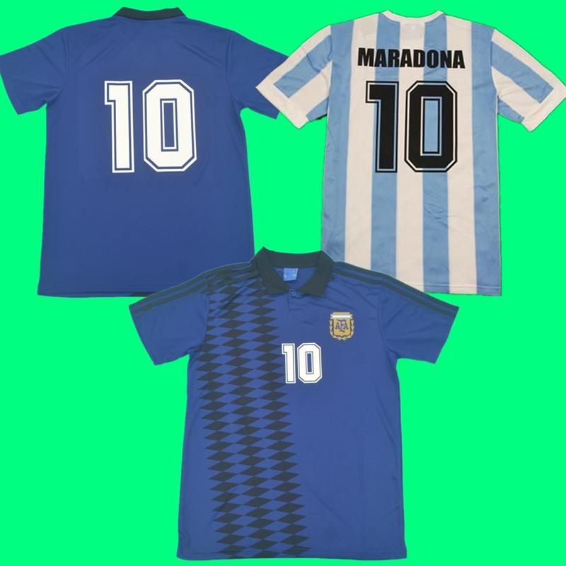 1994 1995 Argentina Retro Soccer Jersey Vintage Classic 94 95 Camisa de Fútbol Simeone Ortega Maradona CANIGIA